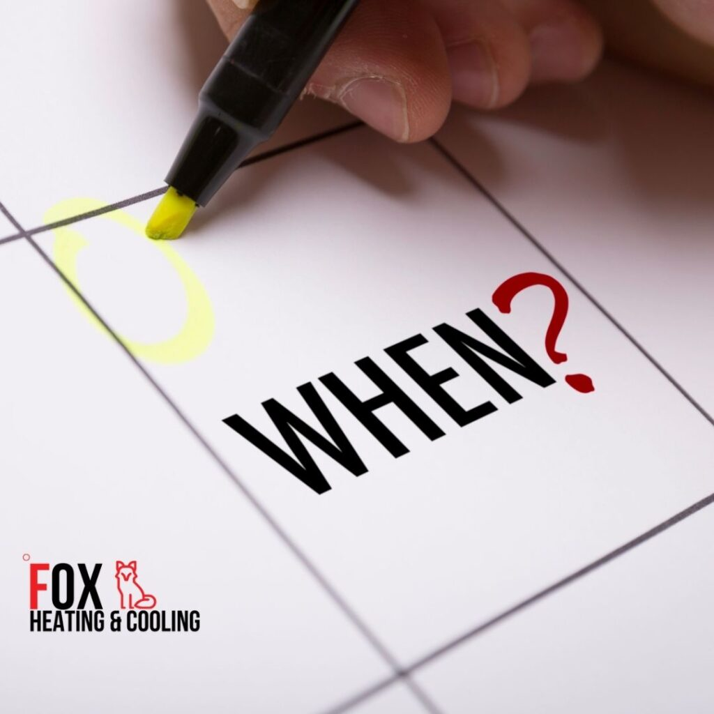 When should I get my HVAC maintenance? Fox heating and cooling denver